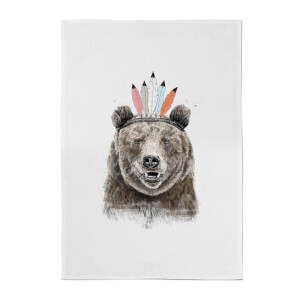 Balazs Solti Native Bear Cotton Tea Towel