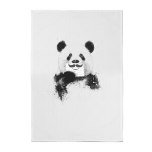 Moustache And Panda Cotton Tea Towel