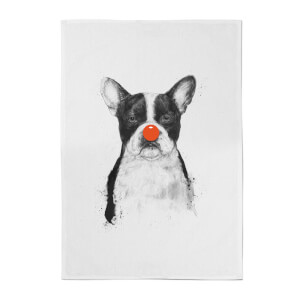 Balazs Solti Red Nosed Bulldog Cotton Tea Towel