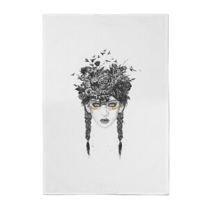Balazs Solti Native Girl Cotton Tea Towel