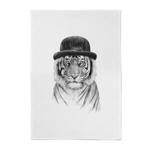 Balazs Solti Tiger In A Hat Cotton Tea Towel