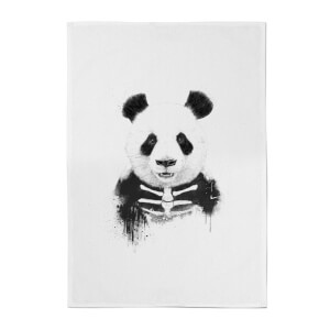 Balazs Solti Skull Panda Cotton Tea Towel