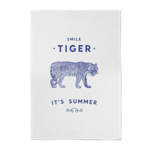 Florent Bodart Smile Tiger Cotton Tea Towel