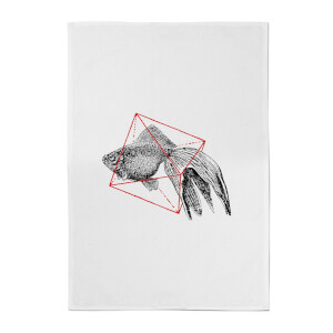 Florent Bodart Fish In Geometry Cotton Tea Towel