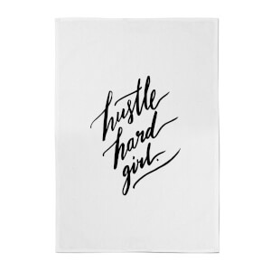 PlanetA444 Hustle Hard Girl Cotton Tea Towel