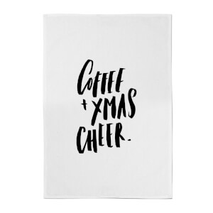 PlanetA444 Coffee and Xmas Cheer Cotton Tea Towel