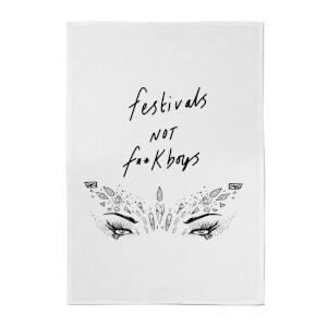 Rock On Ruby Festivals Not F**k Boys Cotton Tea Towel