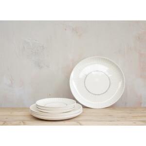 Nkuku Iba Ceramic Plate - Grey - Dinner Plate