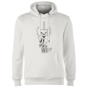 Rock On Ruby Be Who You Are Hoodie - White