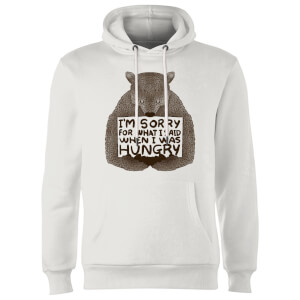 Tobias Fonseca Sorry for What I Said When I Was Hungry Hoodie - White