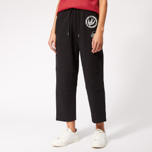 McQ Alexander McQueen Women's Knee Patched Pants - Darkest Black