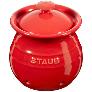 Staub Ceramic Round Garlic Keeper - Cherry