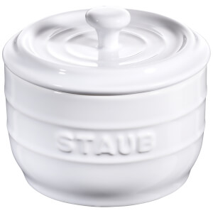 Staub Ceramic Round Salt Crock - White