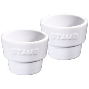 Staub Ceramic Round Egg Holder - White