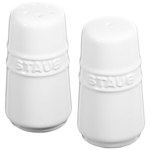 Staub Ceramic Round Salt and Pepper Shaker - White