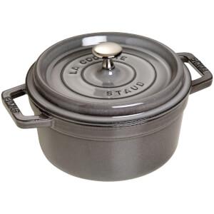 Staub Round Cocotte - Graphite Grey - 20cm