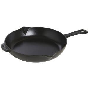 Staub Round Frying Pan - Black - 26cm