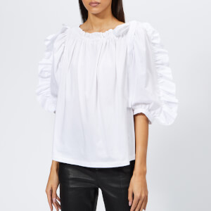 See By Chloé Women's Frill Sleeve Top - White Powder