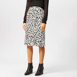 aea5675cf See By Chloé Women's Denim Midi Skirt - White - Black 1