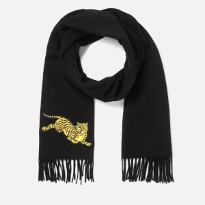 KENZO Women's Jumping Tiger Wool Scarf - Black