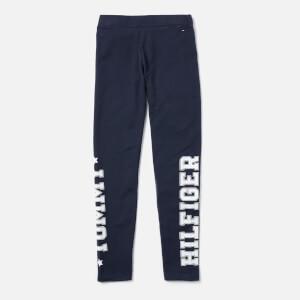 Tommy Hilfiger Girls' Essential Branded Leggings - Navy