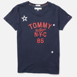 Tommy Hilfiger Girls' Essential Tommy Logo T-Shirt - Black Iris