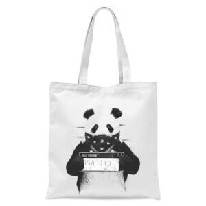 Balazs Solti Bandana Panda Tote Bag - White