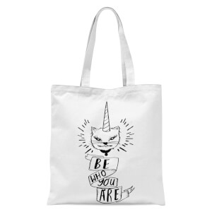 Rock On Ruby Be Who You Are Tote Bag - White