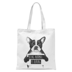 Balazs Solti Being Normal Is Boring Tote Bag - White
