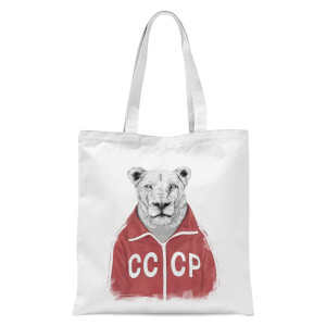 Balazs Solti CCCP Lion Tote Bag - White