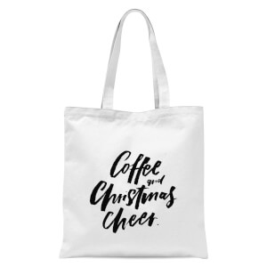 PlanetA444 Coffee and Christmas Cheer Tote Bag - White