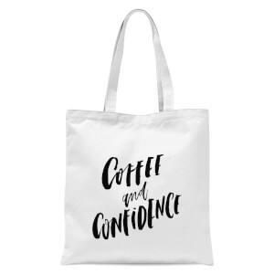 PlanetA444 Coffee and Confidence Tote Bag - White