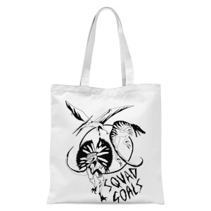 Dinosaur Squad Goals Tote Bag - White