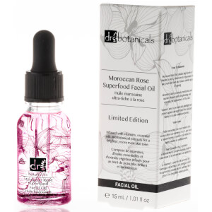 Dr Botanicals Limited Edition Print Moroccan Rose Superfood Facial Oil 15ml (Free Gift)