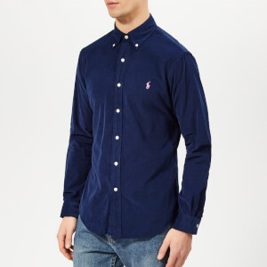 Polo Ralph Lauren Men's Slim Fit Cord Shirt - Holiday Navy