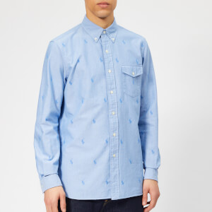 Polo Ralph Lauren Men's All Over Polo Player Shirt - Blue Tonal