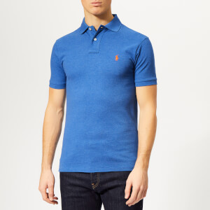 0026c0a6 Polo Ralph Lauren Men's Slim Fit Mesh Polo Shirt - Dockside Blue Heather