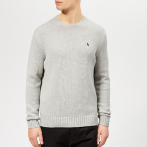 Polo Ralph Lauren Men's Crew Neck Knitted Jumper - Andover Grey Heather