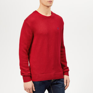 Polo Ralph Lauren Men's Crew Neck Knitted Jumper - Samba Red