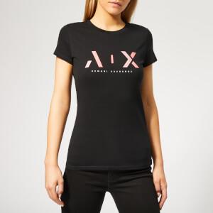 Armani Exchange Women's Ax T-Shirt - Black