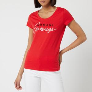 Armani Exchange Women's Brand T-Shirt - Red