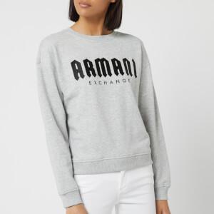 Armani Exchange Women's Logo Sweatshirt - Grey