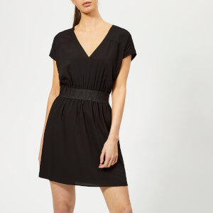 Armani Exchange Women's Logo Ban Shift Dress - Black