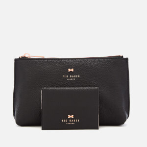 Ted Baker Women's Fabiana Bow Washbag and Mirror Set - Black