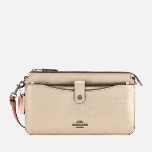 Coach Women's Metallic Colorblock Pop Up Messenger Bag - Platinum Multi