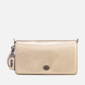 Coach Women's Metallic Dinky Cross Body Bag - Platinum