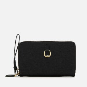 Lauren Ralph Lauren Women's Bennington Double Zip Medium Wristlet - Black