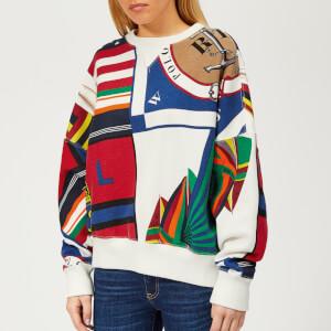 Polo Ralph Lauren Women's Graphic Print Crew Neck Sweatshirt - Multi