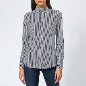 Polo Ralph Lauren Women's Heidi Oxford Striped Shirt - Navy