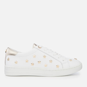 Dune Women's Estel Leather Cupsole Trainers - White